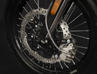 Zero DS Electric Motorcycle Wheels and brakes