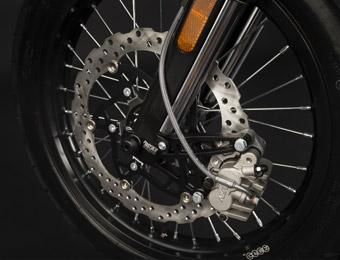 Räder und Bremsen der Zero DS