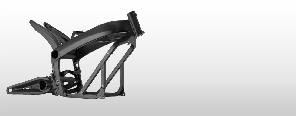 Der Rahmen des Elektromotorrads Zero DS