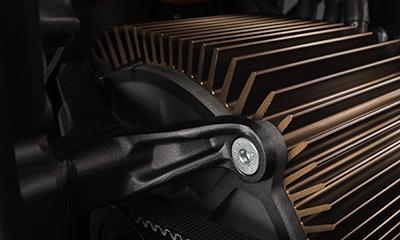 Der Motor des Elektromotorrads Zero DS