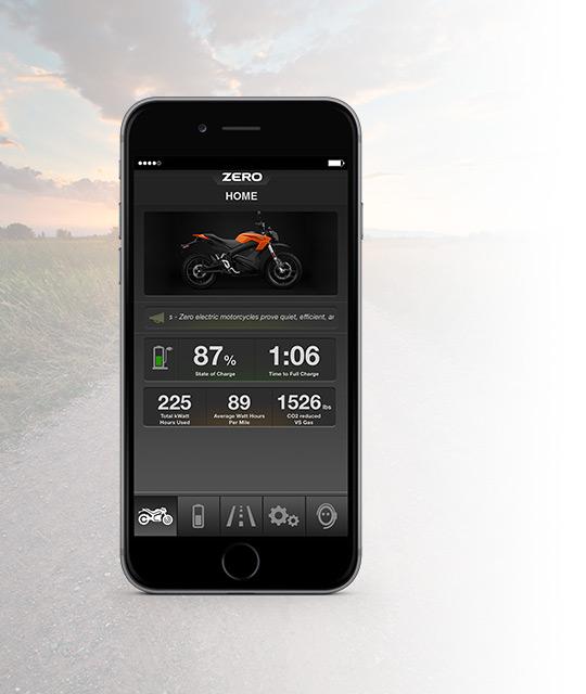 App elektrische Zero DS motorfiets
