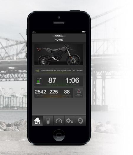 Zero FX Electric Motorcycle App