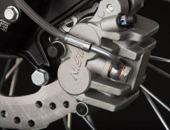 Zero FX Electric Motorcycle brakes