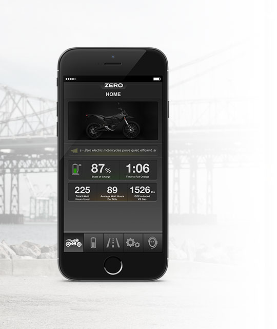 Zero FX Electric Motorcycle App