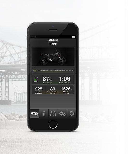 App elektrische Zero FX motorfiets