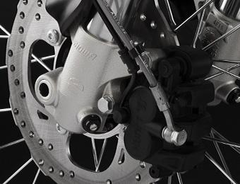 Remmen elektrische Zero FX motorfiets