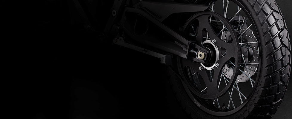 Zero FX Electric Motorcycle Drivetrain
