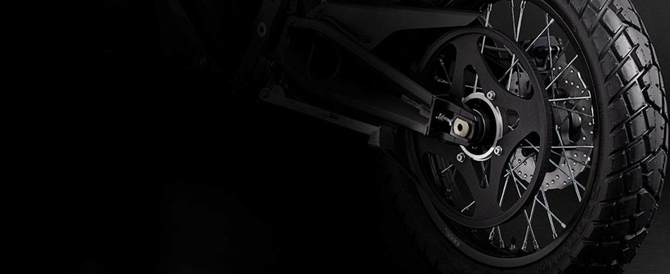 Aandrijfsysteem elektrische Zero FX motorfiets