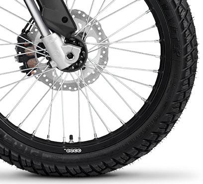 Wielen elektrische Zero FX motorfiets