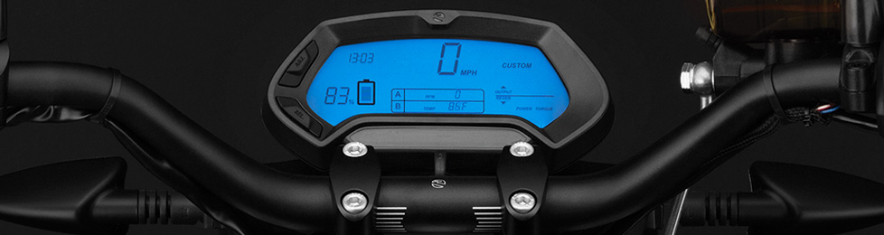 Zero FX Electric Motorcycle Dashboard
