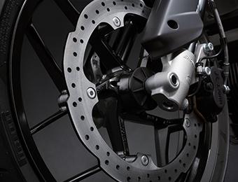 Zero FXS Electric Motorcycle brakes