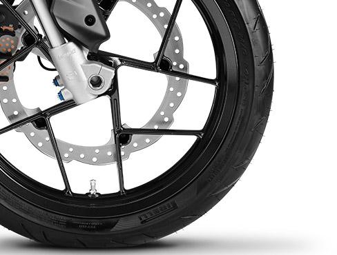 Les roues et les freins de la Zero FXS