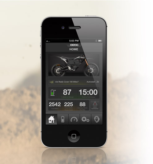 Zero MX Electric Motorcycle App