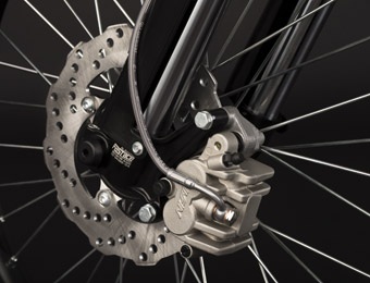 Zero MX Electric Motorcycle brakes