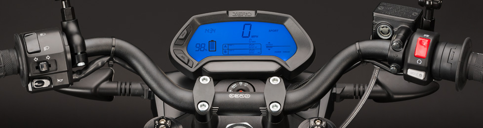 Zero S Electric Motorcycle Dashboard