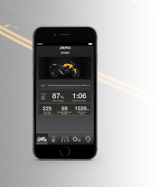 Applicazione per moto elettrica Zero S