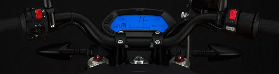 Zero S Electric Motorcycle Dashboard