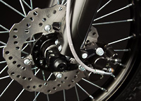 Zero X Electric Motorcycle front brake