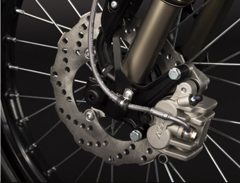 Zero XU Electric Motorcycle Wheels and brakes